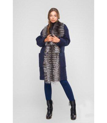 Пальто  с натуральным мехом 26329-2