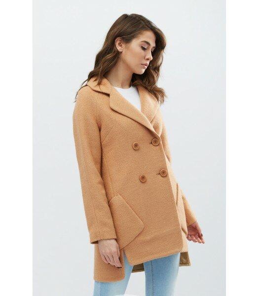 Стильное ассиметричное пальто PL-8723