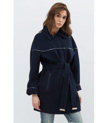 Кашемировое пальто со вставкой PL-8628