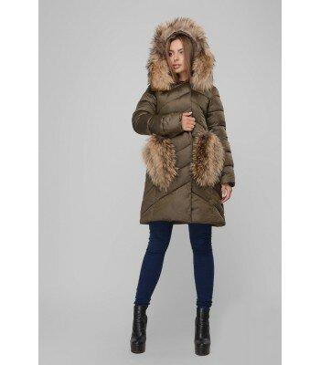 Зимняя куртка с мехом и капюшоном 26273-1