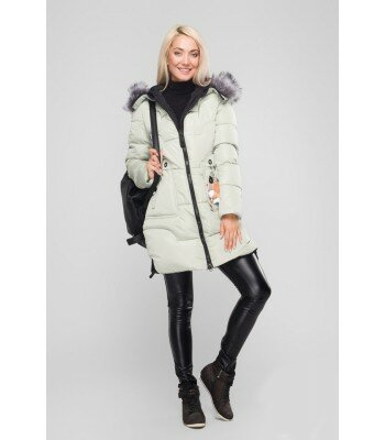 Зимняя куртка удлиненная с капюшоном 26328-10