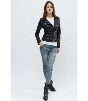 Демисезонная куртка из эко-кожи 31088