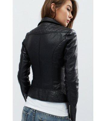 Демисезонная куртка из эко-кожи 31089