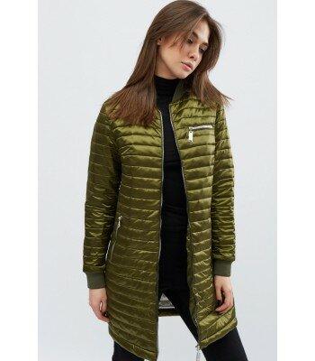 Демисезонная удлиненная куртка LS-8783