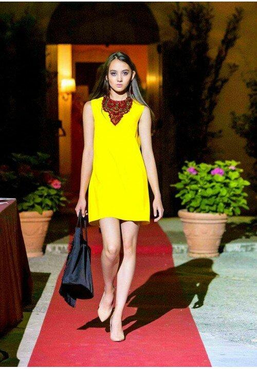 Платье и колье  «Гранат»